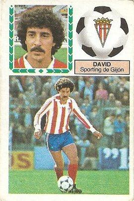 Liga 83-84. David (Sporting de Gijón). Ediciones Este.