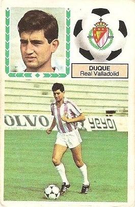 Liga 83-84. Duque (Real Valladolid). Ediciones Este.