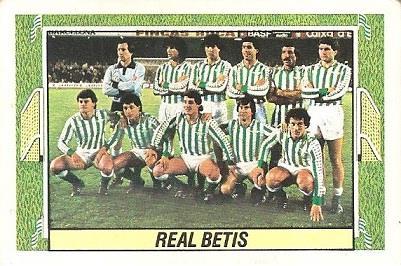 Liga 84-85. Alineación Real Betis (Real Betis). Ediciones Este.