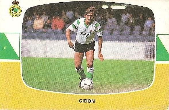 Liga 84-85. Cidón (Racing de Santander). Cromos Cano.