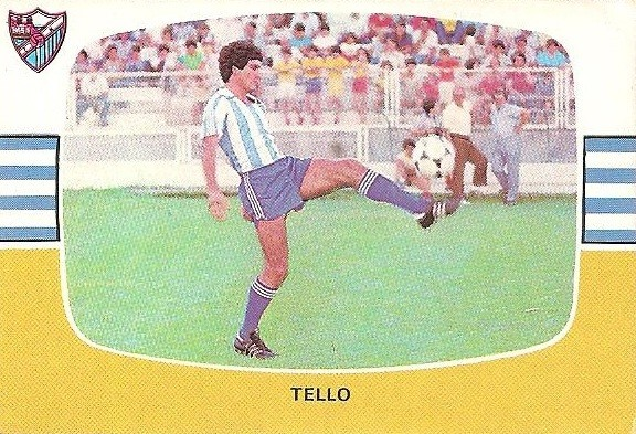Liga 84-85. Fichaje Nº 19 B Tello (C.D. Málaga). Cromos Cano.