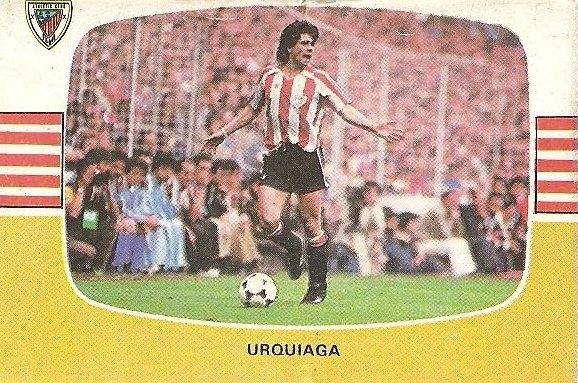 Liga 84-85. Urquiaga (Ath. Bilbao). Cromos Cano.