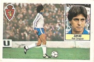 Liga 84-85. Zayas (Coloca por Morgado) (Real Zaragoza). Ediciones Este.