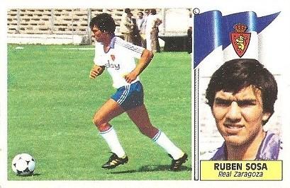 Liga 86-87. Rubén Sosa (Real Zaragoza). Ediciones Este.
