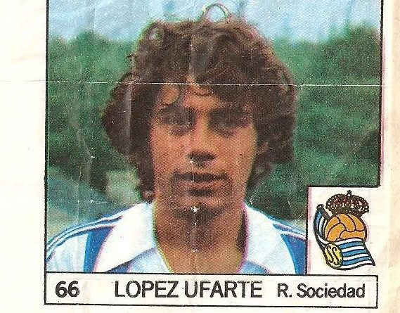 Super Cromos Los Mejores del Mundo (1981). López Ufarte (Real Sociedad). Chicle Fútbol Boomer.