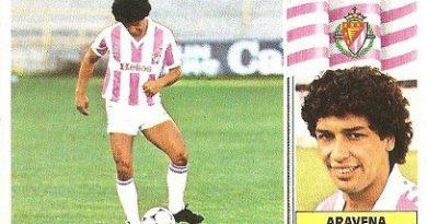 Liga 86-87. Aravena (Real Valladolid). Ediciones Este.