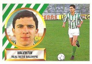 Liga 88-89. Valentín (Real Betis). Ediciones Este.