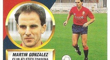 Liga 88-89. Martín González (Club Atlético Osasuna). Ediciones Este.