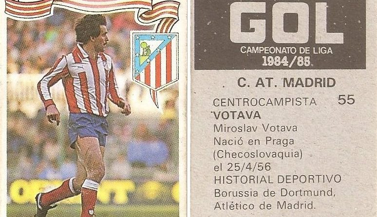 Gol. Campeonato de Liga 1984-85. Votava (Atlético de Madrid). Editorial Maga.