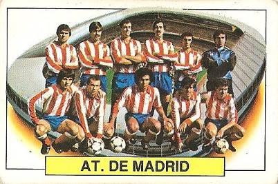 Liga 83-84. Alineación Atlético de Madrid (Atlético de Madrid). Ediciones Este.