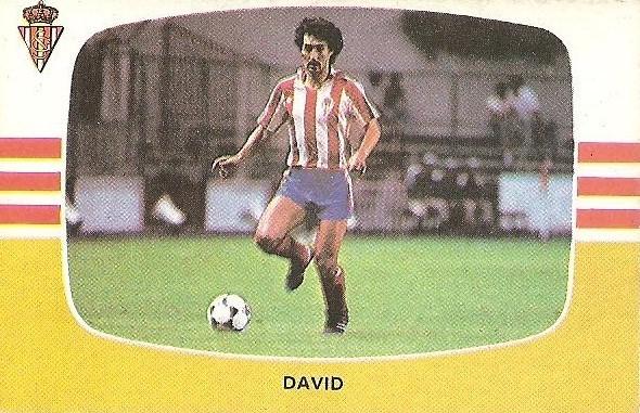Liga 84-85. David (Real Sporting de Gijón). Cromos Cano.