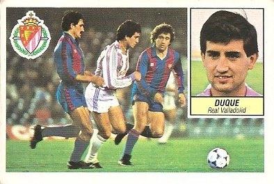 Liga 84-85. Duque (Real Valladolid). Ediciones Este.