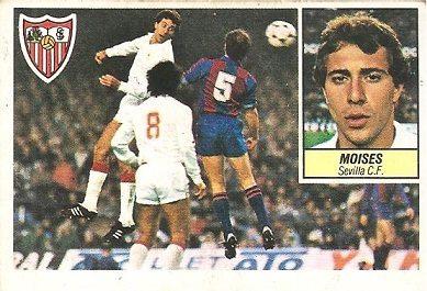 Liga 84-85. Moises (Sevilla C.F.). Ediciones Este.