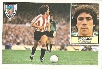 Liga 84-85. Urquiaga (Ath. Bilbao). Ediciones Este.