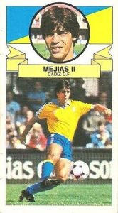 Liga 85-86. Mejías II (Cádiz C.F.). Ediciones Este.