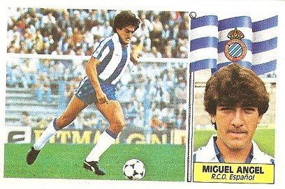 Liga 86-87. Miguel Ángel (R.C.D. Español). Ediciones Este.