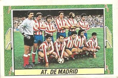 Liga 84-85. Alineación Atlético de Madrid (Atlético de Madrid). Ediciones Este.