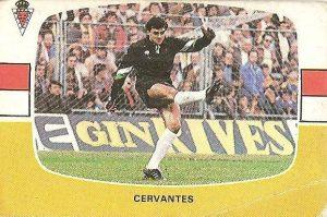 Liga 84-85. Cervantes (Real Murcia). Cromos Cano.
