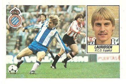 Liga 84-85. Lauridsen (R.C.D. Español). Ediciones Este.