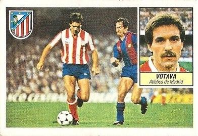 Liga 84-85. Votava (Atlético de Madrid). Ediciones Este.