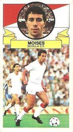Liga 85-86. Moises (Sevilla C.F.). Ediciones Este.