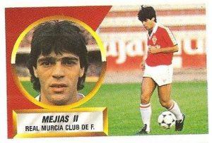 Liga 88-89. Mejías II (Real Murcia). Ediciones Este.