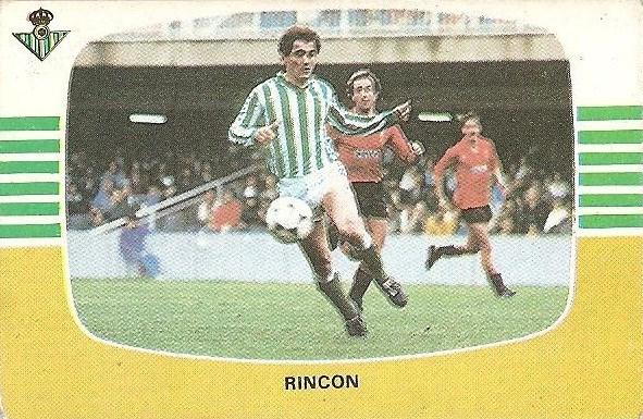 Liga 84-85. Rincón (Real Betis). Cromos Cano.