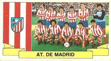 Liga 85-86. Alineación Atlético de Madrid (Atlético de Madrid). Ediciones Este.