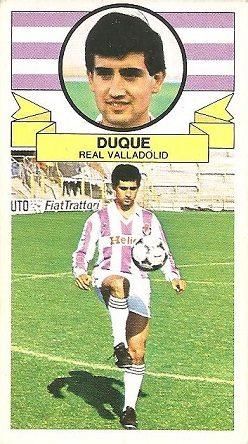 Liga 85-86. Duque (Real Valladolid). Ediciones Este.