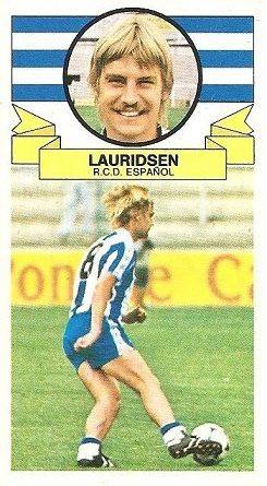 Liga 85-86. Lauridsen (R.C.D. Español). Ediciones Este.