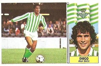 Liga 86-87. Diego (Real Betis). Ediciones Este.