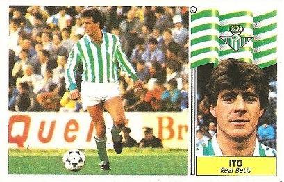 Liga 86-87. Ito (Real Betis). Ediciones Este.
