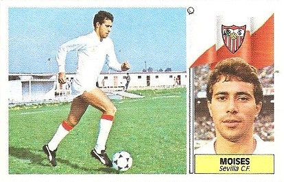 Liga 86-87. Moisés (Sevilla C.F.). Ediciones Este.