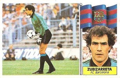 Liga 86-87. Zubizarreta ( F.C. Barcelona). Ediciones Este.