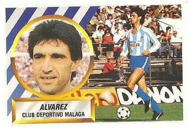 Liga 88-89. Fichaje Nº 24 Álvarez (C.D. Málaga). Ediciones Este.