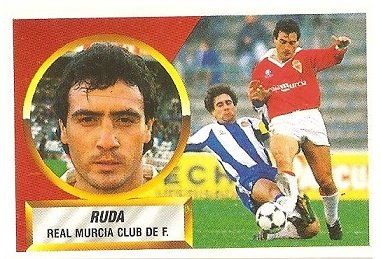Liga 88-89. Ruda (Real Murcia). Ediciones Este.