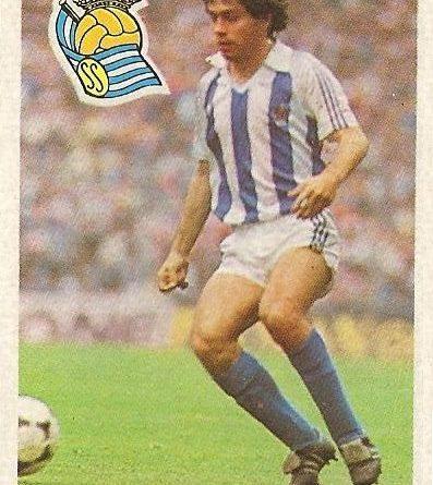 Diego Armando Maradona. Sus driblings. Sus goles. Liga 84-85. López Ufarte (Real Sociedad). Cromo Esport.