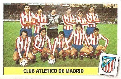 Liga 86-87. Alineación Atlético de Madrid (Atlético de Madrid). Ediciones Este.