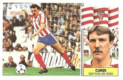 Liga 86-87. Cundi (Real Sporting de Gijón). Ediciones Este.
