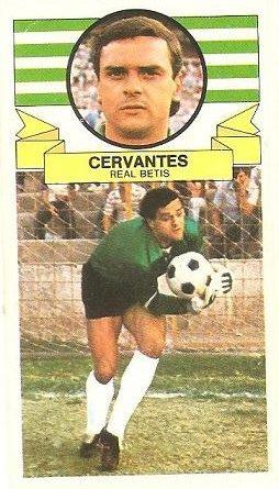 Liga 85-86. Fichaje Nº 29 Cervantes (Real Betis). Ediciones Este.