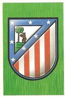 Liga 88-89. Escudo Atlético de Madrid (Atlético de Madrid). Ediciones Este.