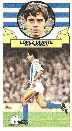 Liga 85-86. López Ufarte (Real Sociedad). Ediciones Este.