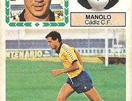 Liga 83-84. Fichaje Nº 21 Manolo (Cádiz C.F.). Ediciones Este.