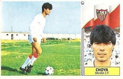 Liga 86-87. Choya (Sevilla C.F.). Ediciones Este.