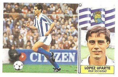 Liga 86-87. López Ufarte (Real Sociedad). Ediciones Este.