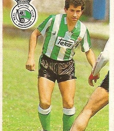 Diego Armando Maradona. Sus driblings. Sus goles. Liga 84-85. Piru (Racing de Santander). Cromo Esport.