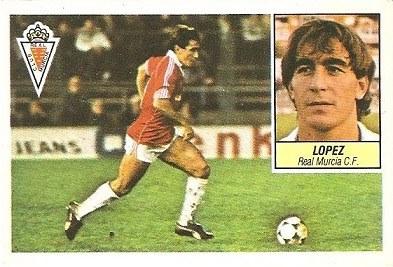 Liga 84-85. López (Real Murcia). Ediciones Este.