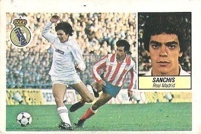 Liga 84-85. Sanchís (Real Madrid). Ediciones Este.
