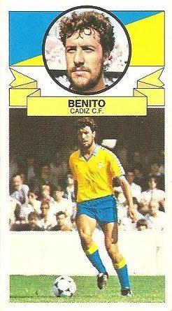 Liga 85-86. Benito (Cádiz C.F.). Ediciones Este.