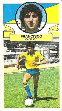 Liga 85-86. Francisco (Coloca por Vilches y López) (Cádiz C.F.). Ediciones Este.